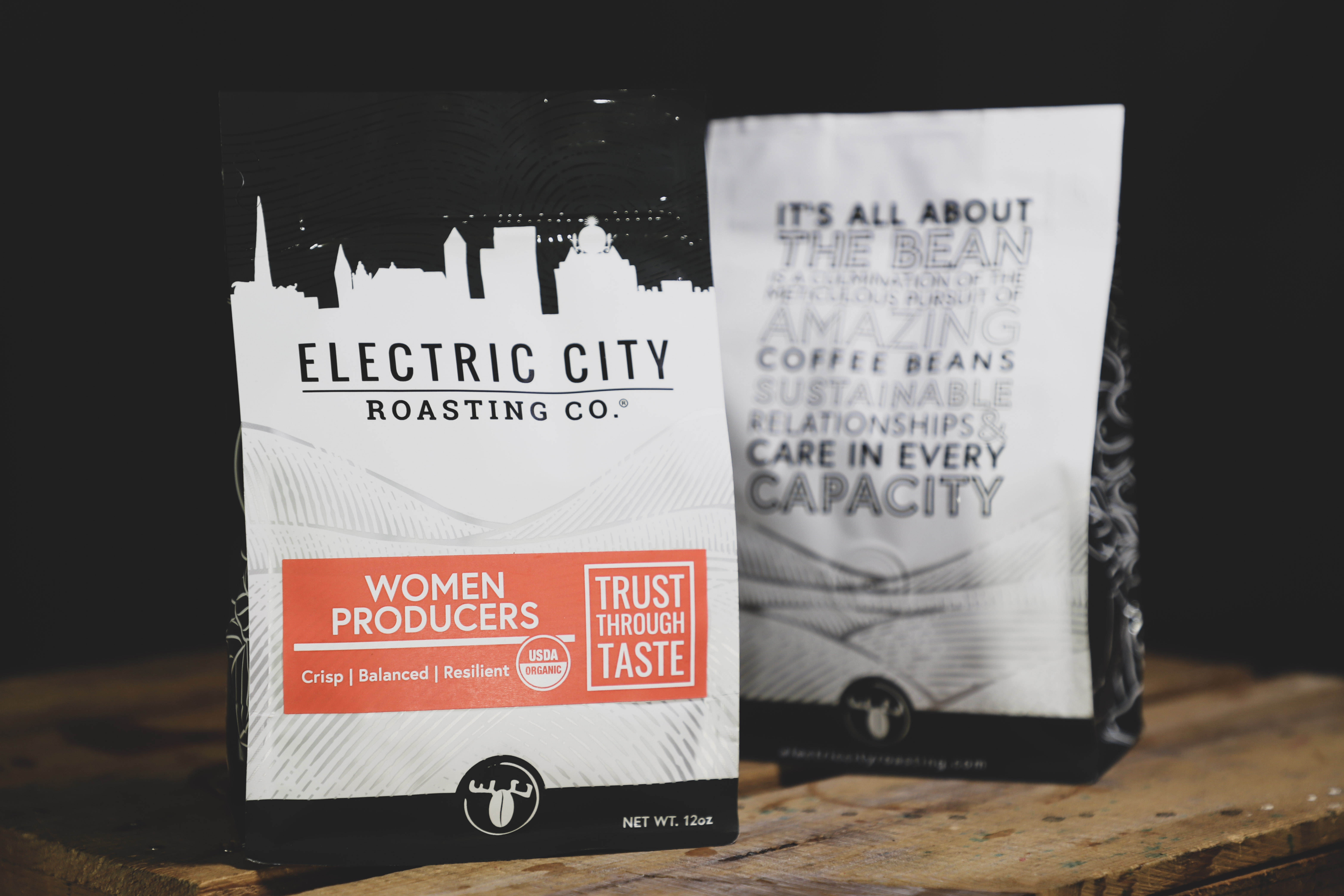 Two 12oz bags of Women producers coffee by electric city roasting