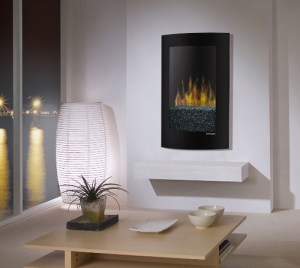 Dimplex Convex Black Wall Mount Electric Fireplace  VCX1525