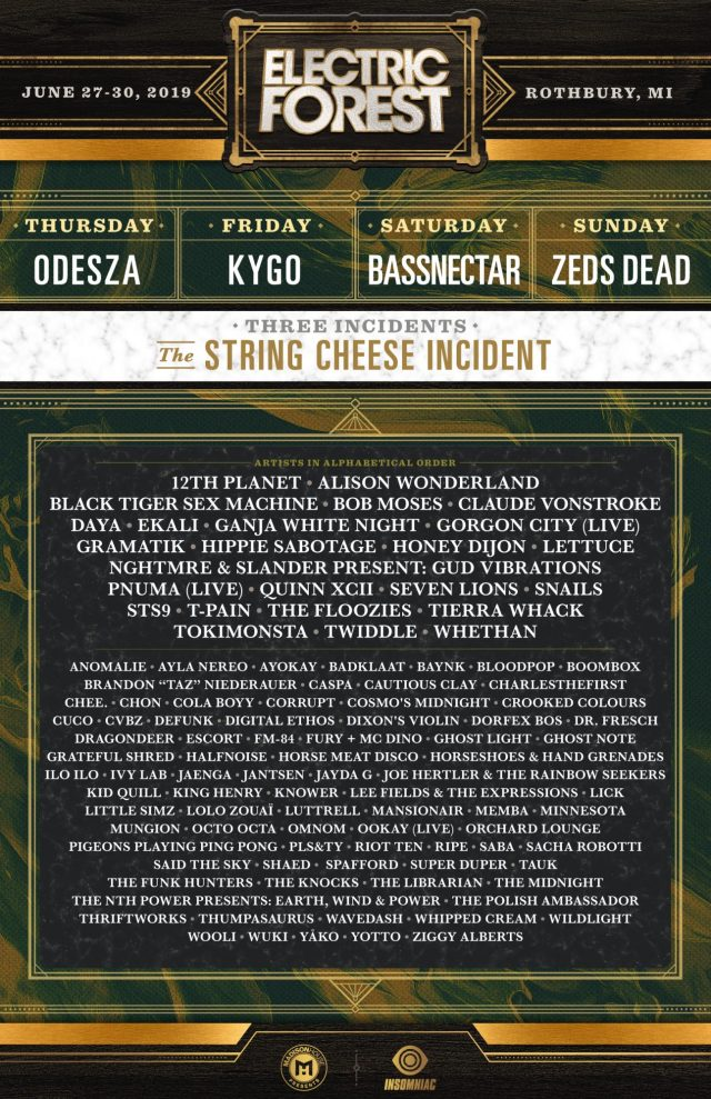 Electric Forest 2019 Lineup