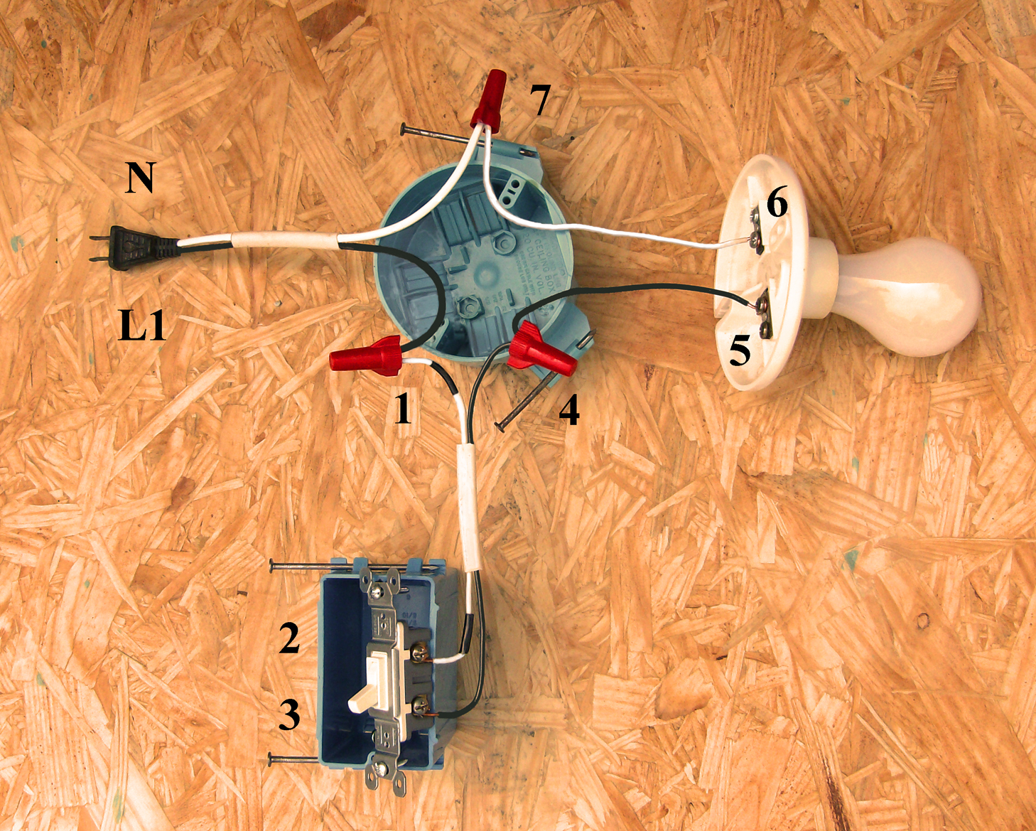 1 Pole Switch Wiring Diagram
