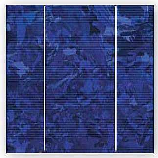 celda solar fotovoltaica policristalina