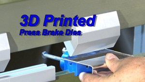 3D Printed Press Brake Dies for  Building The EMG-6 (Video)