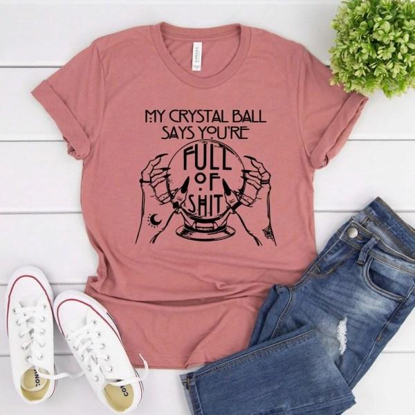 Mauve Crystal ball shirt