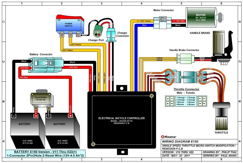 Razor E150 Electric Scooter Parts