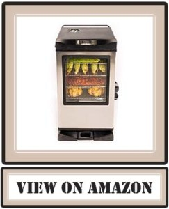 Best Masterbuilt 20077515 Front Controller Electric Smoker with Window and RF Controller, 30-Inch