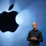 Apple CEO on stage