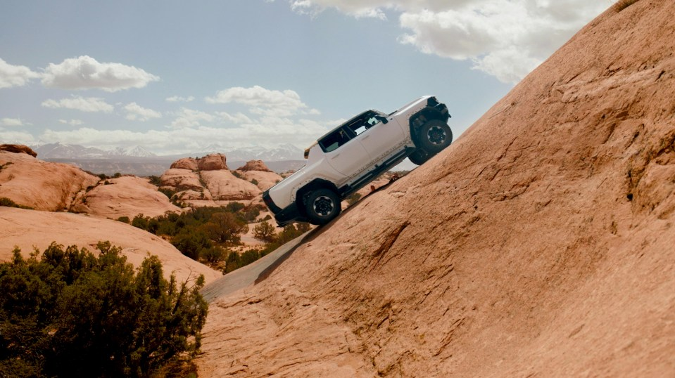 HUMMER on a mountain