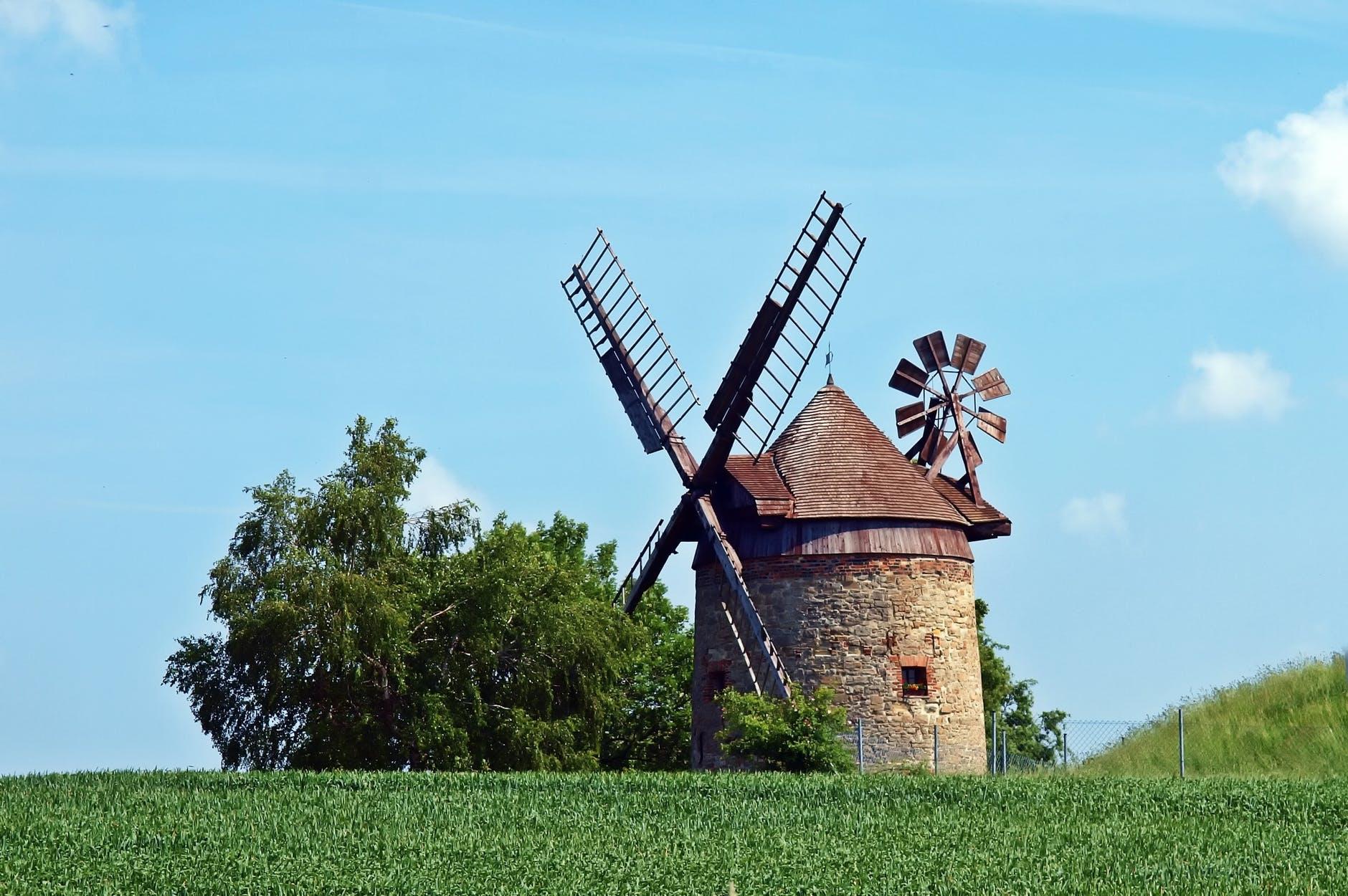 Windmill in a field