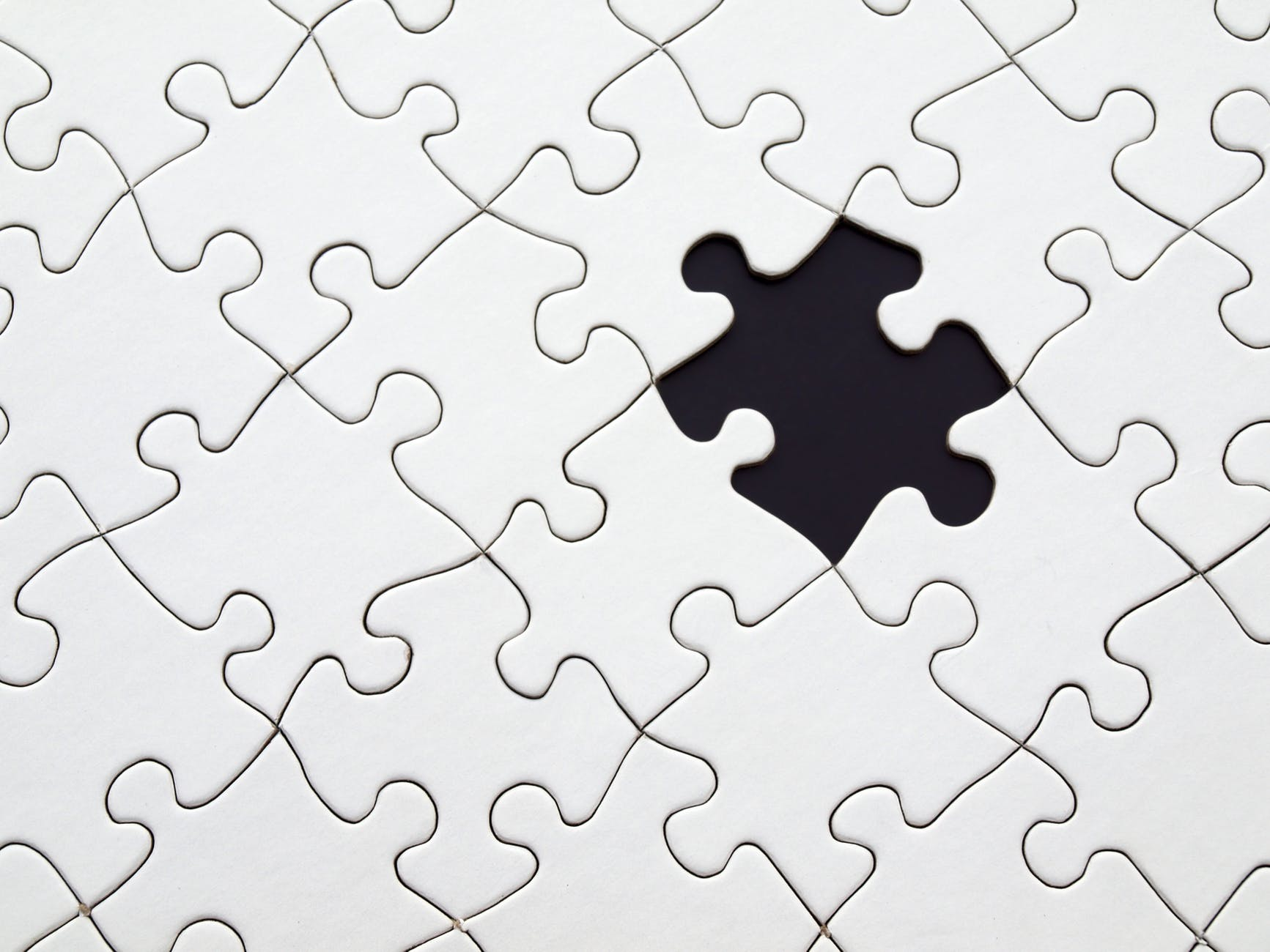 the puzzle pieces are almost together