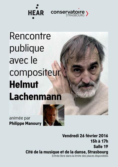 Affiche rencontre Helmut Lachenmann