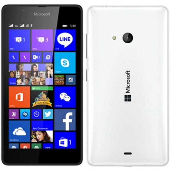 Microsoft Nokia Lumia 540 Dual Sim White