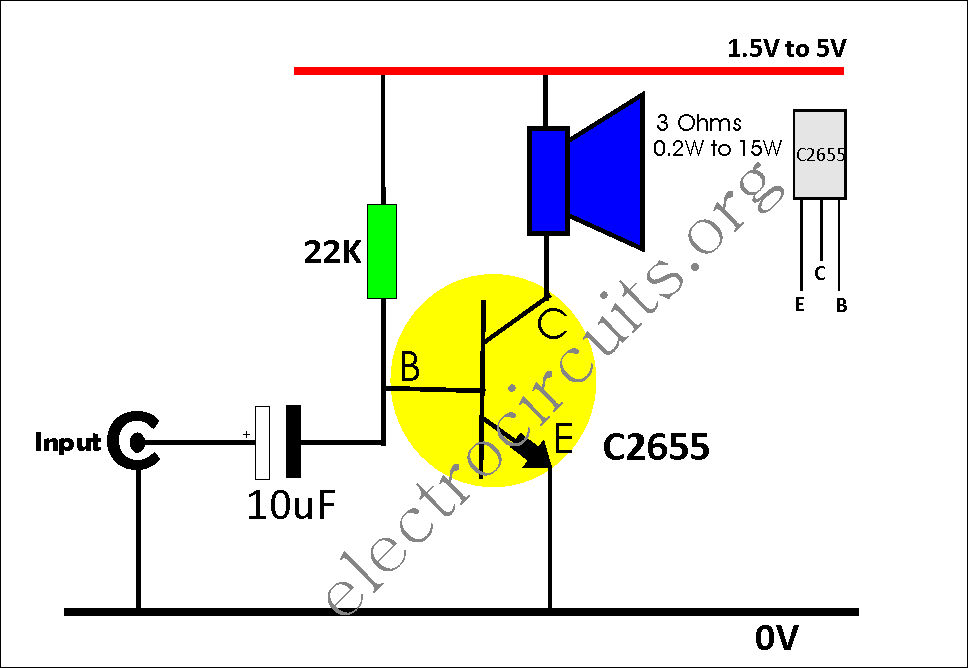 Simple single transistor audio amplifier