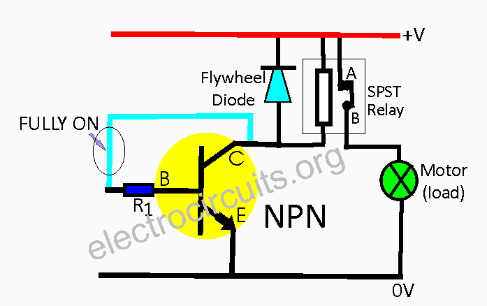 Transistor acting as a switch