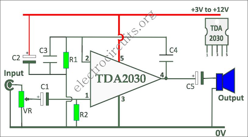 TDA2030 single supply amplifier