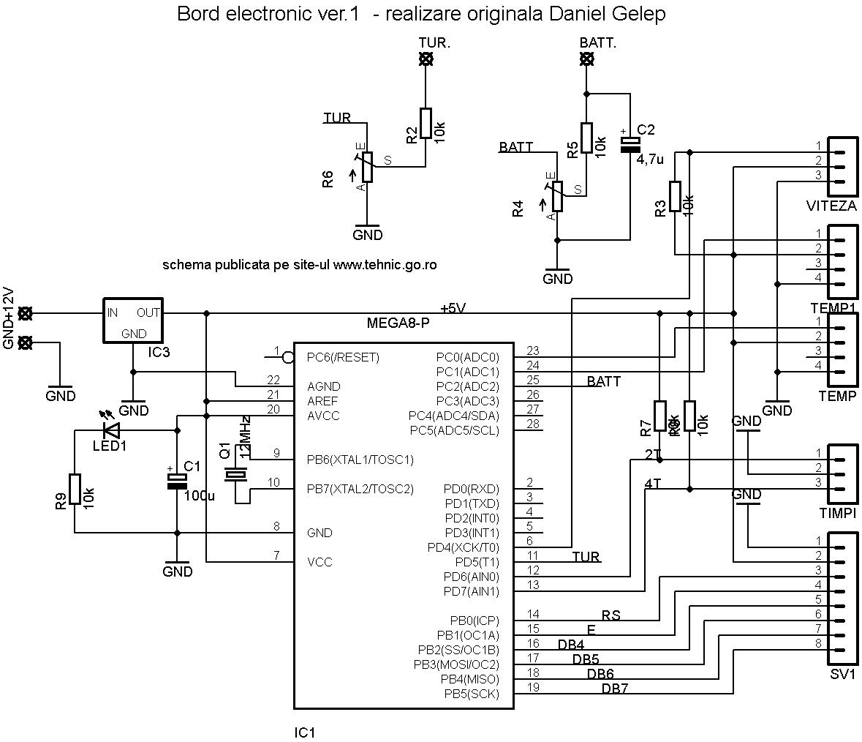 Bord Electronic De Scuter Motocicleta Sau Masina Cu