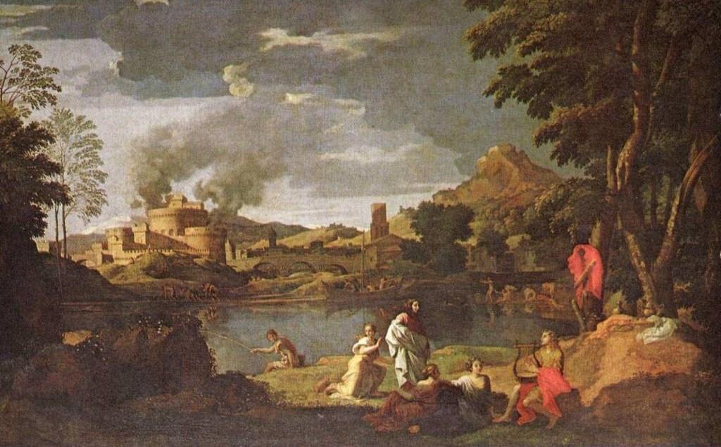 Orphée et Euridice - tableau de Nicolas Poussin.