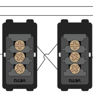 Interruptor conmutador doble Veto PLA35222