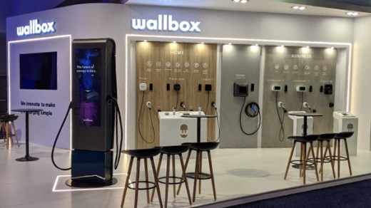 Wallbox stand at CES - Las Vegas 2020