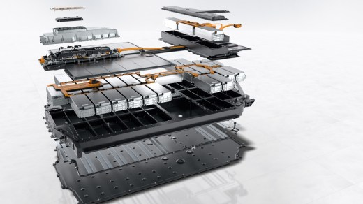 Porsche Taycan battery assembly