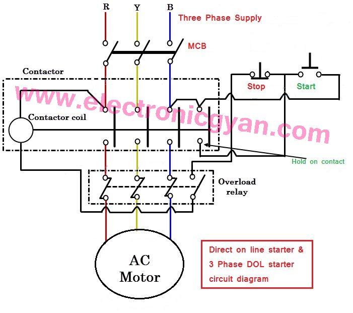 Direct Motor Starter Diagram