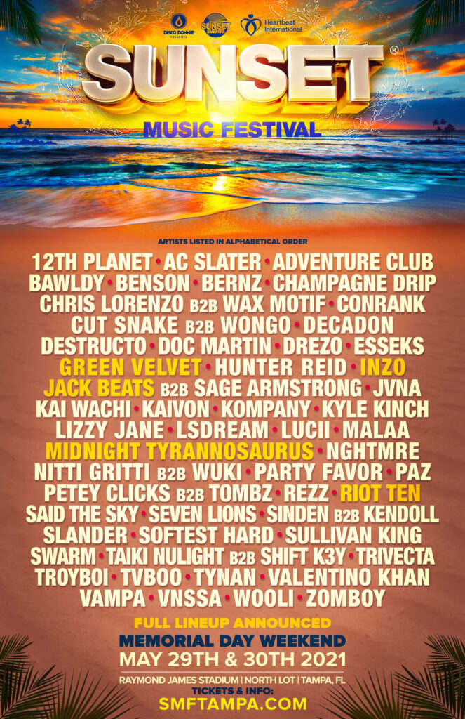 There are few better ways to experience live music than at a music festival. Festival Sunset Music Festival Tampa Fla Tickets And Lineup On May 28 2022 At Raymond James Stadium Electronic Midwest