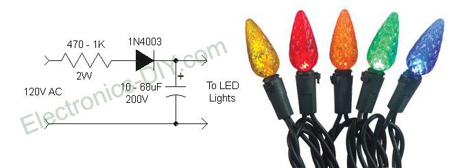 eliminating led christmas lights flicker