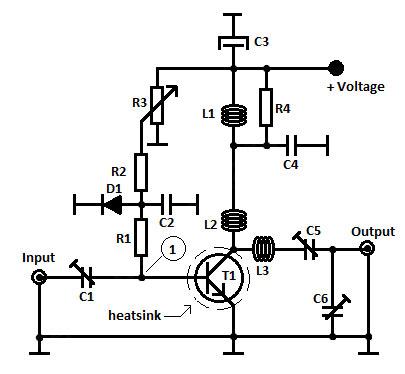1 Watt FM Transmitter Amplifier
