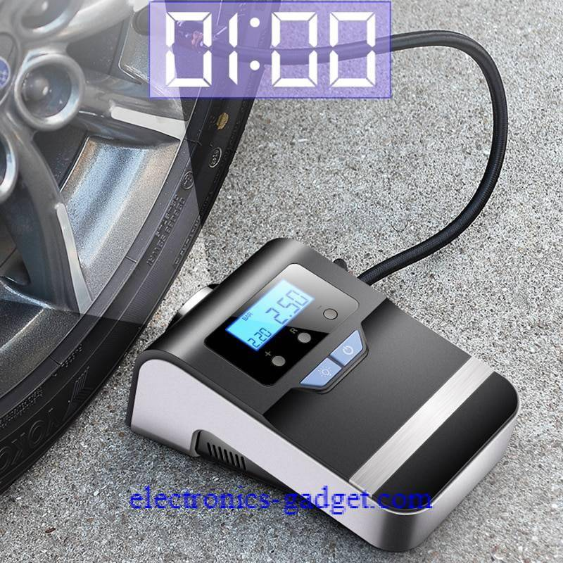 Portable Car Air Compressor Digital Tire Tyre Inflator Pump 12V with Bright Flashing Light, Pressure Gauge 150Psi Car Accessories