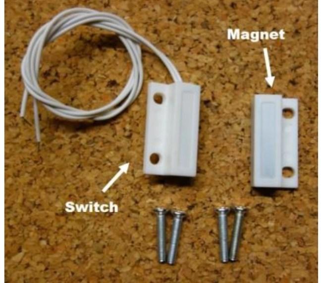 الشكل(1): مكوّنات مفتاح التوصيل المغناطيسيّ