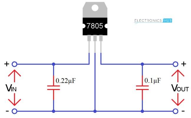 الدارة الأساسية لـ 7805
