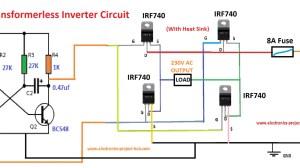 Simple Transformerless Inverter Circuit – 1000 Watt – DIY