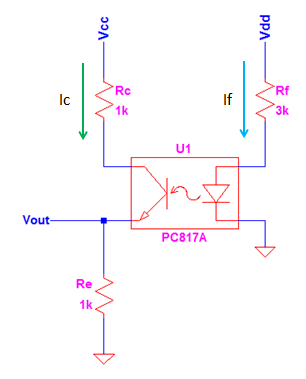 optocoupler circuit structure