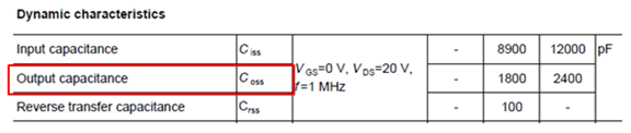 MOSFET output capacitance