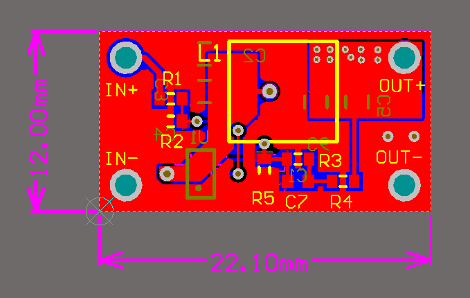5V 2A DCDC PCB
