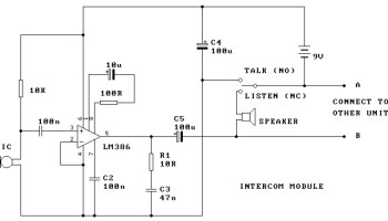 Swell Low Cost And Simple Intercom Electronic Schematic Diagram Wiring Cloud Hisonuggs Outletorg