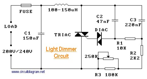 220v ac lamp touch dimmer electronic schematic diagram220v light dimmer