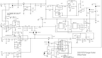dod fx75 flanger guitar effect pedal