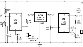 Flame, gas and smoke detector | Electronic Schematic Diagram