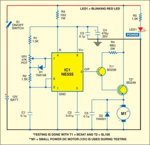 DC Motor Speed Controller | Detailed Circuit Diagram Available