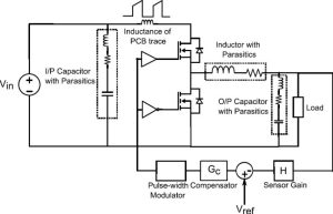 Power supply design: closed loop voltage controlled buck regulator wth parasitic