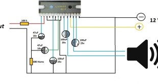 la4440 amplifier circuit diagram, la4440 circuit, la4440 circuit diagram