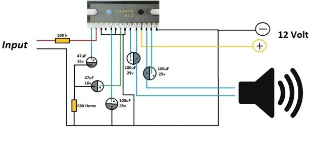 how to build a simple amplifier circuit