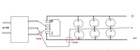 100 Watts amplifier circuit