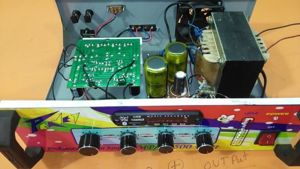 How to make an amplifier 500 Watts.