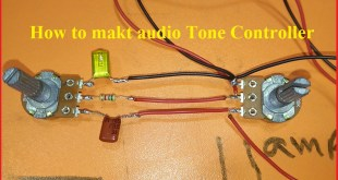 how to make tone controller for audio amplifier?