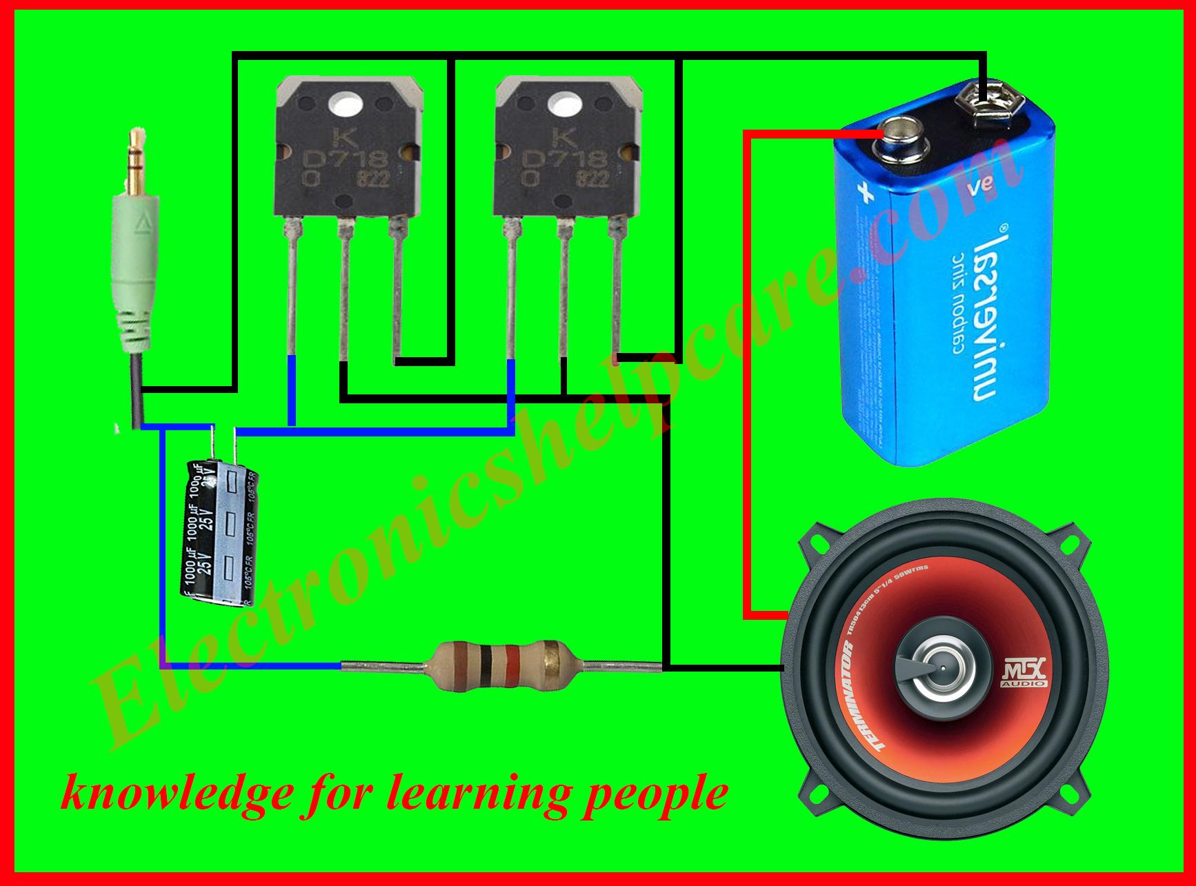 Amplifier Configuration This Transistor Power Amplifier Circuit