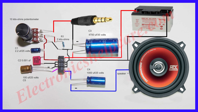 Mini Amplifier Circuit Diagram - Wiring Diagram Filter