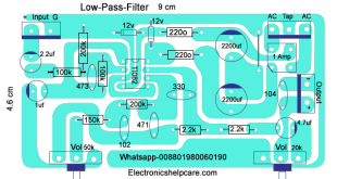 How to make only bass circuit diagram? low pass filter, easy diagram