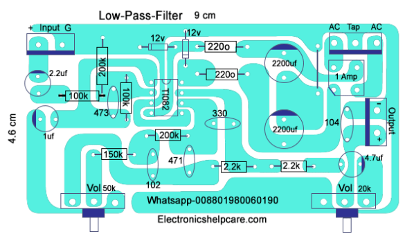 How to make only bass circuit diagram? low pass filter, easy diagram -  Electronics Help Care   Bass Amp Wiring Diagram      Electronics Help Care