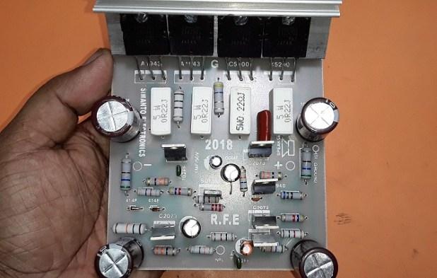 How to make transistor amplifier using 4 transostor electronics